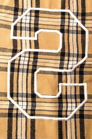 Set |  Checkered scarf Mila | brown  | Picture 4