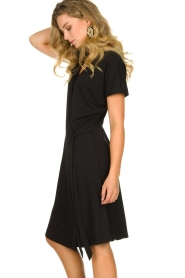Les Favorites |  Wrap dress Abby | black  | Picture 5