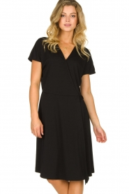 Les Favorites |  Wrap dress Abby | black  | Picture 2