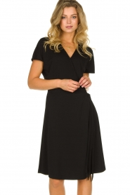 Les Favorites |  Wrap dress Abby | black  | Picture 4