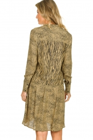 Les Favorites | Dress with animal print Annika | brown  | Picture 5