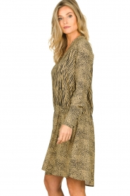 Les Favorites | Dress with animal print Annika | brown  | Picture 4