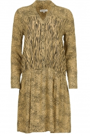 Les Favorites | Dress with animal print Annika | brown  | Picture 1