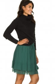 Les Favorites |  Dotted ruffle skirt Marli | green  | Picture 4