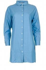 Les Favorites |  Cotton tunic blouse Ineke | blue  | Picture 1