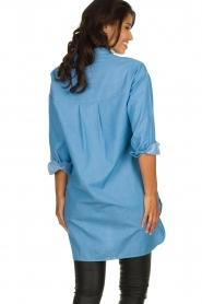 Les Favorites |  Cotton tunic blouse Ineke | blue  | Picture 5