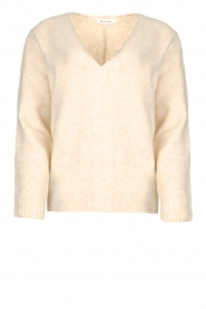 Les Favorites |  Knitted V-neck sweater Fenne | beige  | Picture 1
