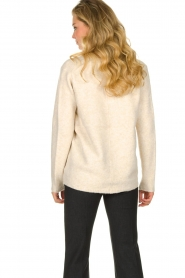 Les Favorites |  Knitted V-neck sweater Fenne | beige  | Picture 6