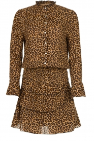 Les Favorites |  Leopard print dress with ruffle skirt Helene | animal print  | Picture 1