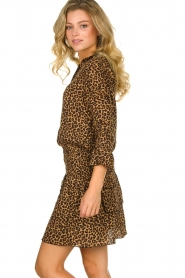 Les Favorites |  Leopard print dress with ruffle skirt Helene | animal print  | Picture 5