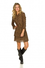 Les Favorites |  Leopard print dress with ruffle skirt Helene | animal print  | Picture 3