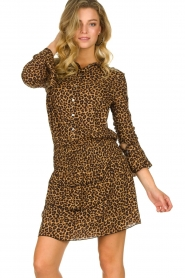 Les Favorites |  Leopard print dress with ruffle skirt Helene | animal print  | Picture 4