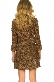 Les Favorites |  Leopard print dress with ruffle skirt Helene | animal print  | Picture 6