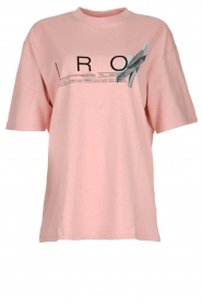 IRO |  T-shirt with logo print Olcott | pink  | Picture 1