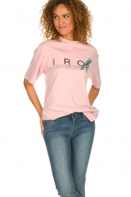 IRO |  T-shirt with logo print Olcott | pink  | Picture 2