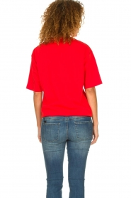 IRO |  T-shirt with logo print Olcott | red  | Picture 5