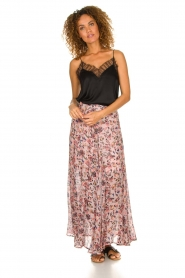 IRO |  Printed maxi skirt Diamond | pink  | Picture 3