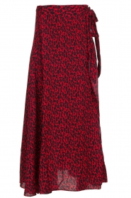 IRO |  Leopard printed maxi skirt Tanaka | red  | Picture 1