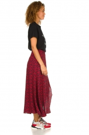 IRO |  Leopard printed maxi skirt Tanaka | red  | Picture 5