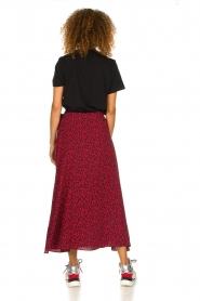 IRO |  Leopard printed maxi skirt Tanaka | red  | Picture 6