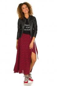 IRO |  Leopard printed maxi skirt Tanaka | red  | Picture 4