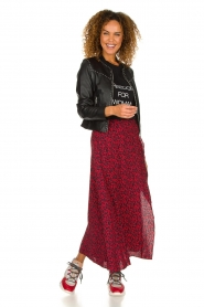 IRO |  Leopard printed maxi skirt Tanaka | red  | Picture 3