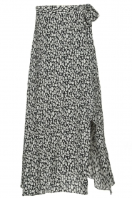 IRO |  Leopard printed maxi skirt Tanaka | black & white  | Picture 1