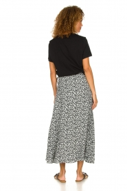 IRO |  Leopard printed maxi skirt Tanaka | black & white  | Picture 4