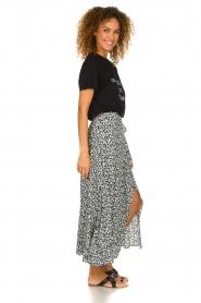 IRO |  Leopard printed maxi skirt Tanaka | black & white  | Picture 3