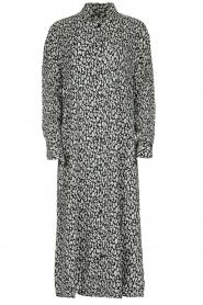 IRO |  Leopard printed maxi dress Pirae | black & white  | Picture 1