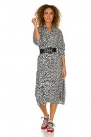 IRO |  Leopard printed maxi dress Pirae | black & white  | Picture 2