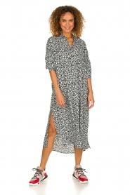 IRO |  Leopard printed maxi dress Pirae | black & white  | Picture 6