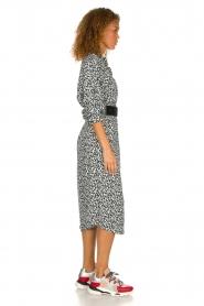 IRO |  Leopard printed maxi dress Pirae | black & white  | Picture 4