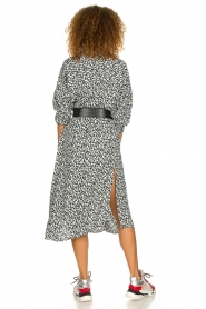 IRO |  Leopard printed maxi dress Pirae | black & white  | Picture 5