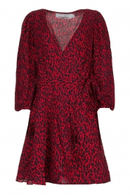 IRO |  Leopard printed dress Boina | red  | Picture 1