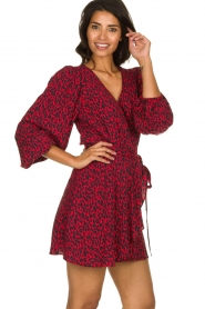 IRO |  Leopard printed dress Boina | red  | Picture 4
