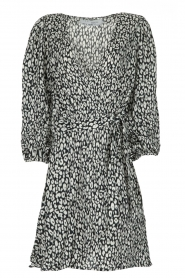 IRO |  Leopard printed dress Boina | black  | Picture 1