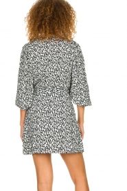 IRO |  Leopard printed dress Boina | black  | Picture 5