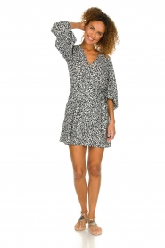 IRO |  Leopard printed dress Boina | black  | Picture 3
