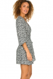 IRO |  Leopard printed dress Boina | black  | Picture 4