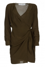 IRO |  Wrap dress Ophie | green  | Picture 1