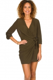 IRO |  Wrap dress Ophie | green  | Picture 2