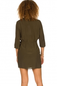 IRO |  Wrap dress Ophie | green  | Picture 6