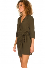IRO |  Wrap dress Ophie | green  | Picture 5