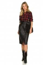 IRO |  Plaid blouse Robbye | red  | Picture 3