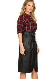 IRO |  Plaid blouse Robbye | red  | Picture 4