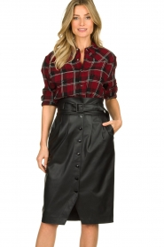 IRO |  Plaid blouse Robbye | red  | Picture 2