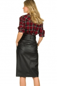 IRO |  Plaid blouse Robbye | red  | Picture 5