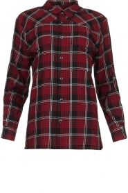 IRO |  Plaid blouse Robbye | red  | Picture 1