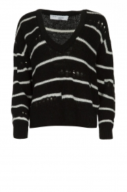 IRO |  Striped sweater Clymer | black & white  | Picture 1